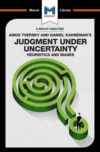 Judgment under Uncertainty Heuristics and Biases book cover