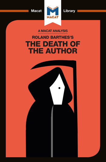 Roland Barthes's The Death of the Author book cover