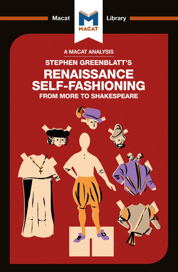 Stephen Greenblatt's Renaissance Self-Fashioning From More to Shakespeare book cover