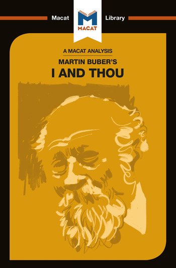 Martin Buber's I and Thou book cover