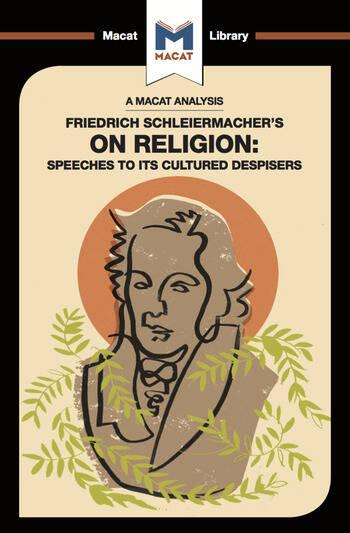 Friedrich Schleiermacher's On Religion Speeches to its Cultured Despisers book cover