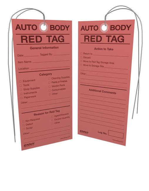 5S Auto Body Red Tags book cover