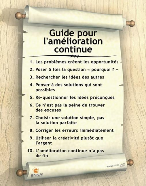 Continuous Improvement Poster (French) book cover