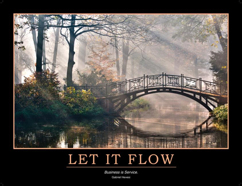 Let It Flow Poster book cover