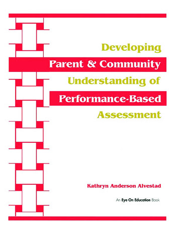 Developing Parent and Community Understanding of Performance-Based Assessment book cover
