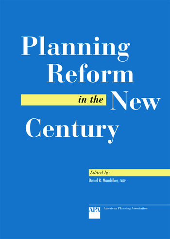Planning Reform in the New Century book cover
