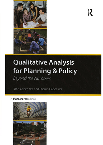 Qualitative Analysis for Planning & Policy Beyond the Numbers book cover