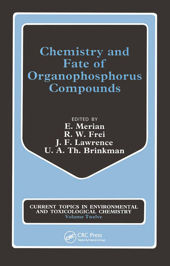 Chemistry Fate Organophosphor book cover