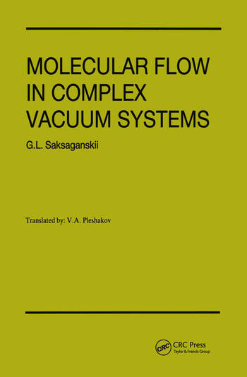 Molecular Flow Complex Vaccum Systems book cover