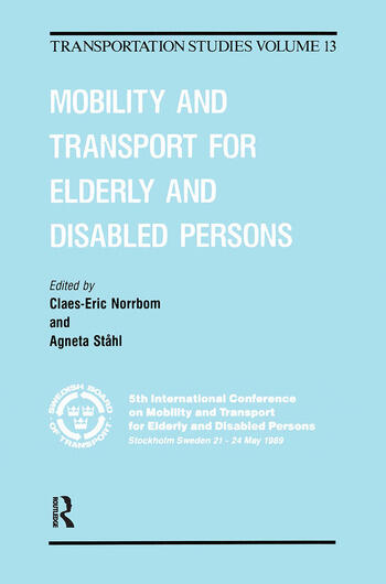 Mobility Transport Elderly Dis book cover