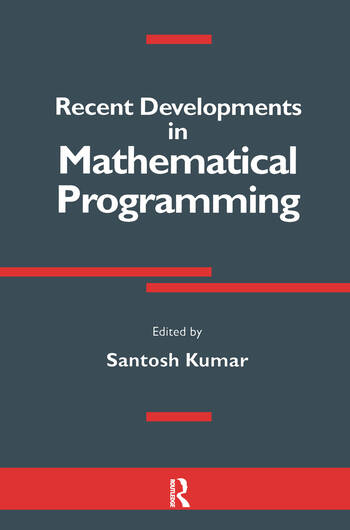 Recent Developments in Mathematical Programming book cover