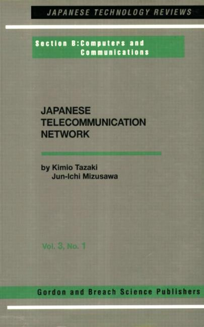 Japanese Telecommunications Network Volume Three book cover