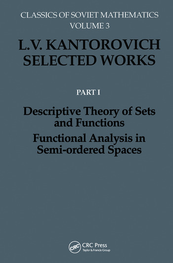 Descriptive Theory of Sets and Functions. Functional Analysis in Semi-ordered Spaces book cover