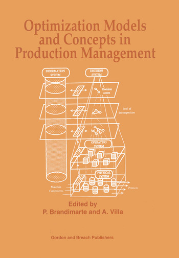Optimization Models and Concepts in Production Management book cover