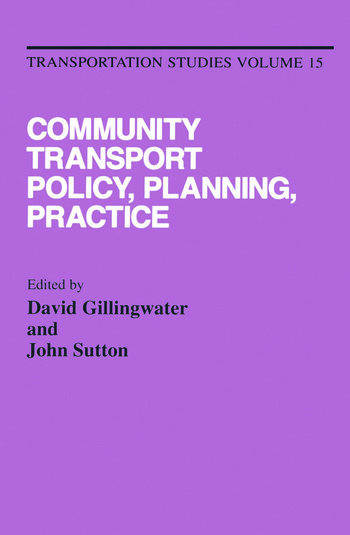 Community Transport: Policy, Planning and Practice book cover