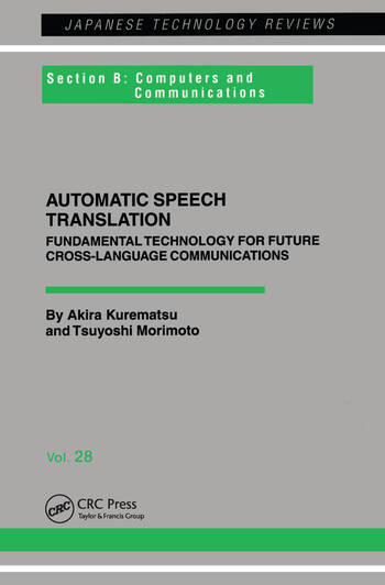 Automatic Speech Translation book cover