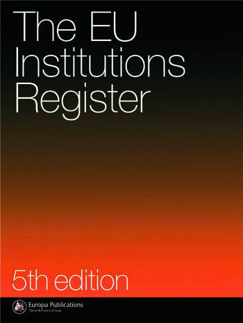 Eu Institutions Register book cover