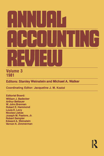 Annual Accounting Review (Vol book cover