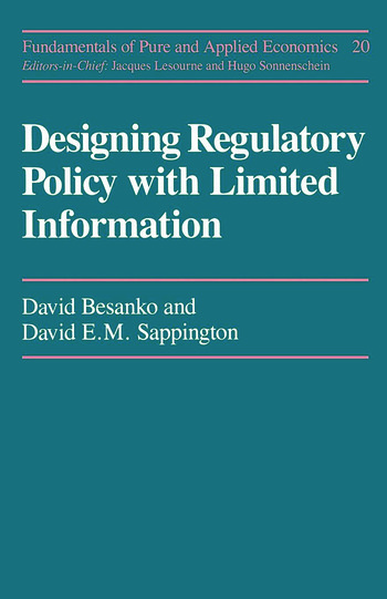 Designing Regulatory Polcy book cover