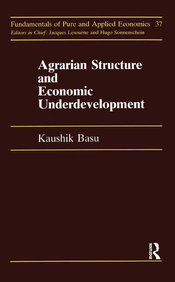 Agrarian Structure And Economi book cover