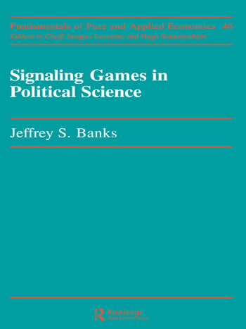 Signaling Games in Political Science book cover