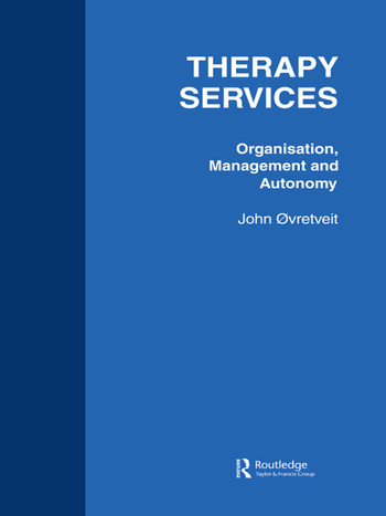 Therapy Services: Organistion book cover