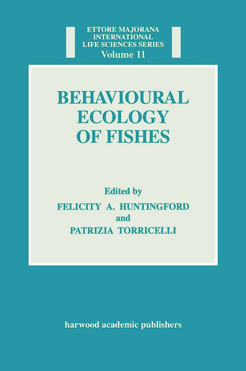 Behavioural Ecology of Fishes book cover