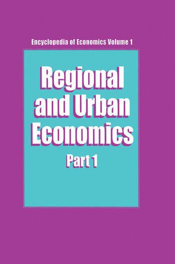 Regional and Urban Economics Parts 1 & 2 book cover