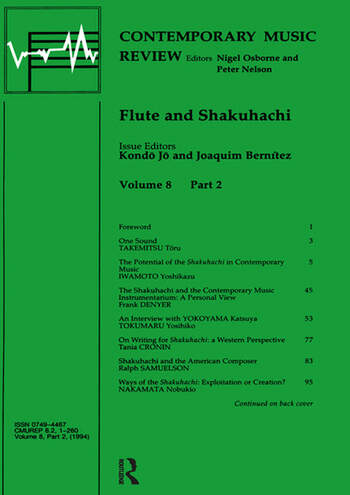 Flute and Shakuhachi book cover