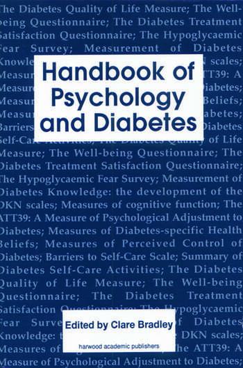 Handbook of Psychology and Diabetes A Guide to Psychological Measurement in Diabetes Research and Practice book cover