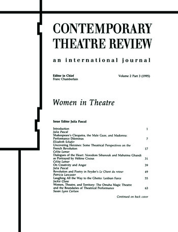 Women in Theatre 2#3 book cover