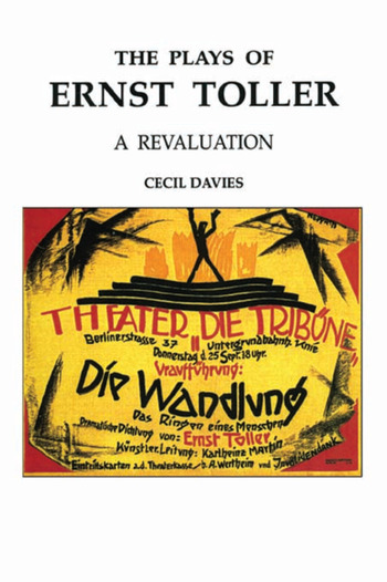 The Plays of Ernst Toller A Revaluation book cover