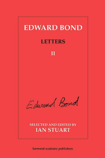 Edward Bond: Letters 2 book cover