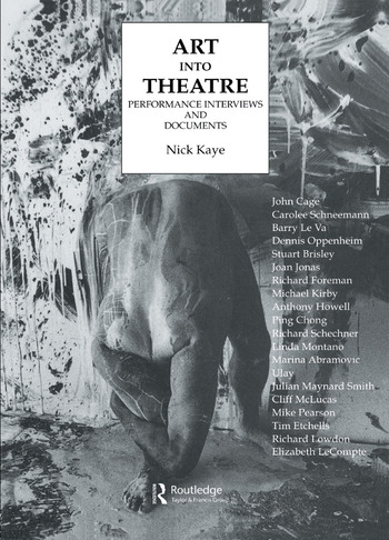 Art Into Theatre Performance Interviews and Documents book cover