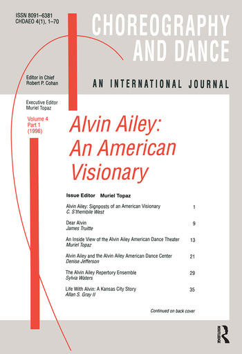 Alvin Ailey An American Visionary book cover