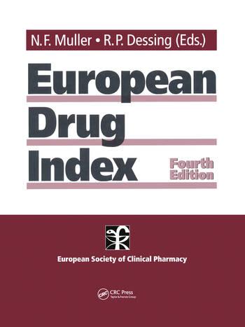 European Drug Index European Drug Registrations, Fourth Edition book cover