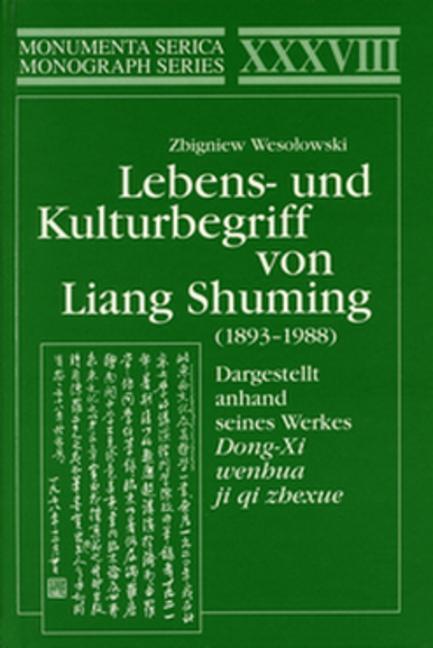 Dargestellt anhand seines Werkes Dong-Xi wenhua ji qi zhexue Dargestellt anhand seines Werkes Dong-Xi wenhua ji qi zhexue book cover