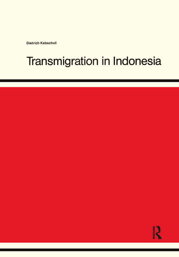 Transmigration in Indonesia book cover