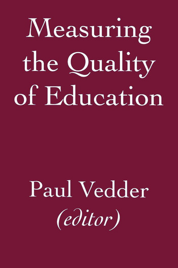 Measuring the Quality of Education book cover