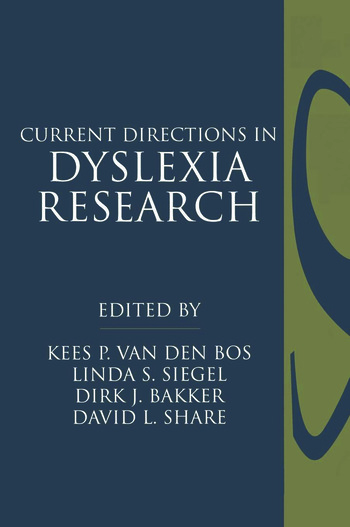 Current Directions in Dyslexia Research book cover
