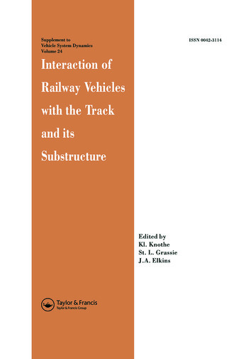 Interaction of Railway Vehicles with the Track and Its Substructure book cover
