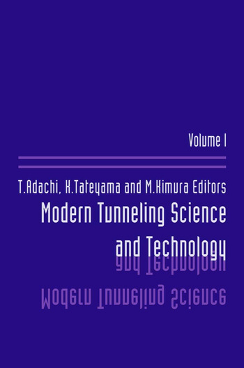 Modern Tunneling Science And Technology Volume 1 book cover