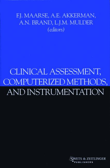 Clinical Assessment, Computerized Methods, and Instrumentation book cover
