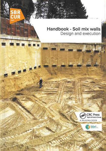 Handbook - Soil mix walls Design and execution book cover