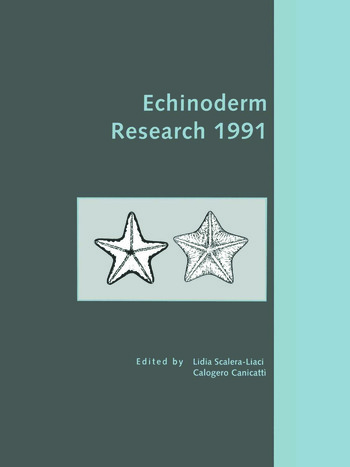 Echinoderm Research 1991 book cover