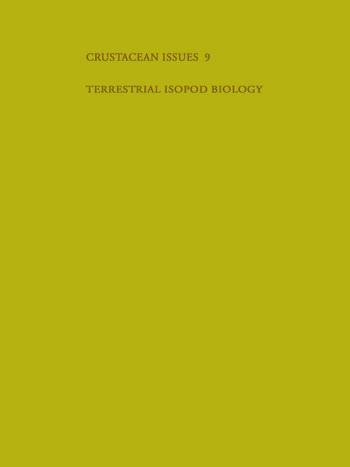 Terrestrial Isopod Biology book cover