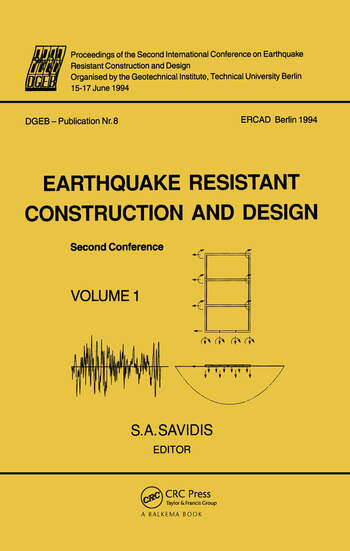 Earthquake resistant construction and design II, volume 1 Proceedings of the second international conference, Berlin, 15-17 June 1994, 2 volumes book cover