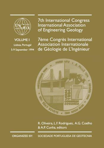 7th International Congress International Association of Engineering Geology, volume 1 Proceedings / Comptes-rendus, Lisboa, Portugal, 5-9 September 1994, 6 volumes book cover