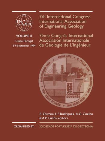 7th International Congress International Association of Engineering Geology, volume 2 Proceedings / Comptes-rendus, Lisboa, Portugal, 5-9 September 1994, 6 volumes book cover