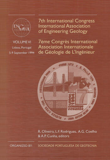 7th International Congress International Association of Engineering Geology, volume 6 Proceedings / Comptes-rendus, Lisboa, Portugal, 5-9 September 1994, 6 volumes book cover